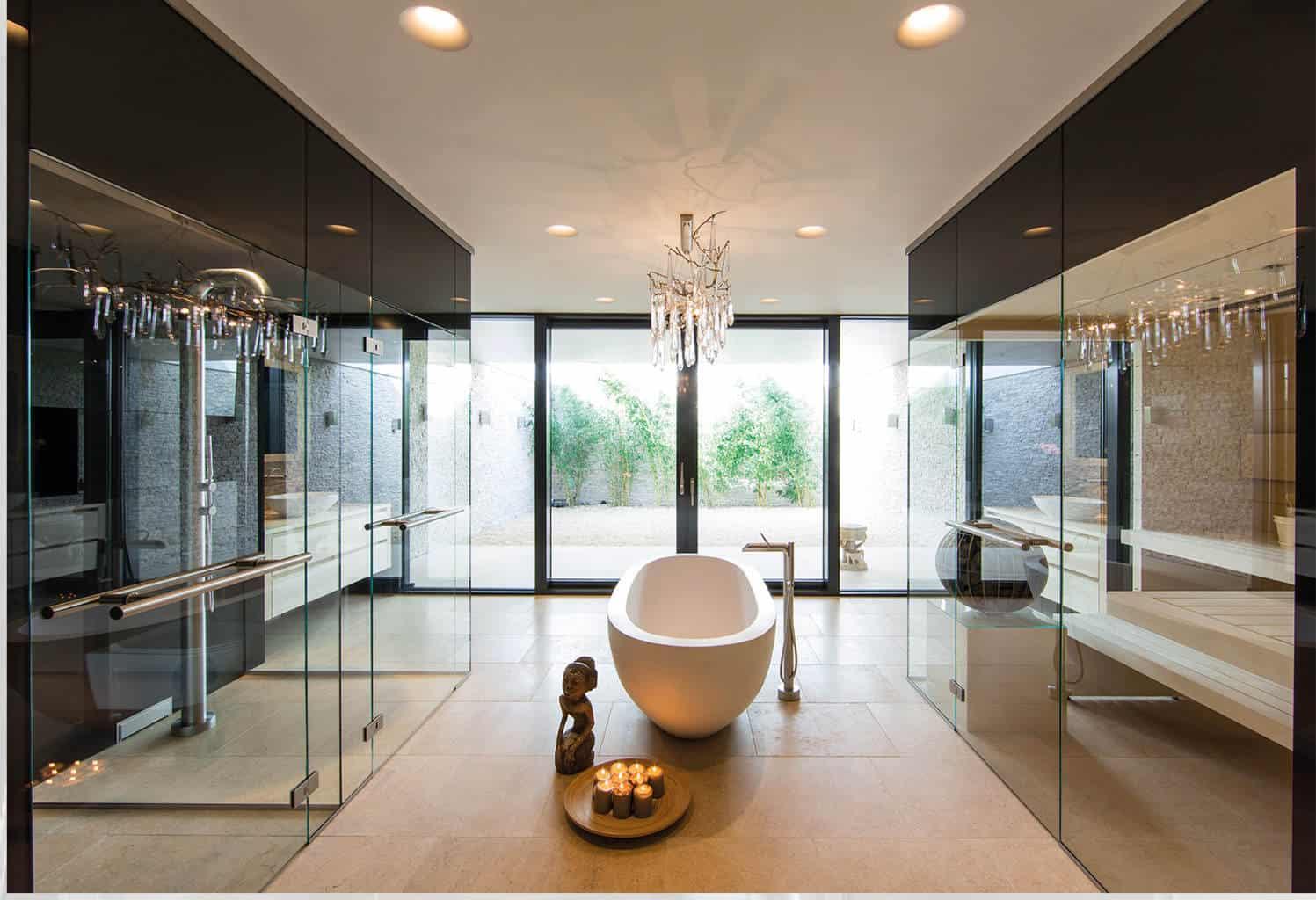 wellness glas. Black Bedroom Furniture Sets. Home Design Ideas