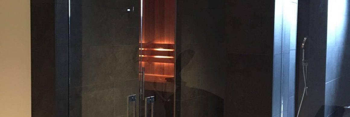glazen sauna deuren