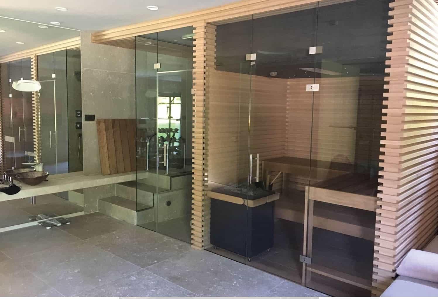Sauna In Huis : Glas perfect voor de sauna glass inside