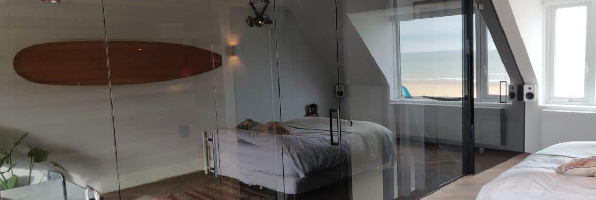 glazenwand slaapkamer